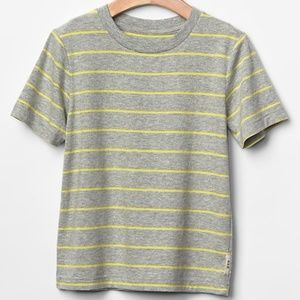 Baby Gap shirt gray yellow striped crew top